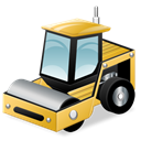 Compactor, soil Black icon