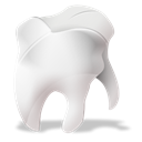 Odontology, tooth Black icon