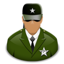 Officer, Watchman Black icon