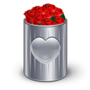 recycle, Bin, roses Black icon