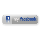Facebook, button, grey, large DarkGray icon