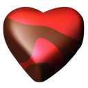 Chocolate, 04, Hearts Black icon