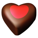 03, Chocolate, Hearts Black icon