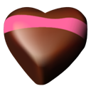 Chocolate, Hearts, 05 Icon