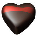 Hearts, 06, Chocolate Black icon