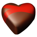 Chocolate, 09, Hearts Black icon