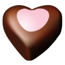 Hearts, Chocolate, 10 Black icon