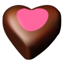 Chocolate, 11, Hearts Black icon