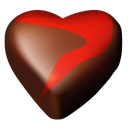 12, Hearts, Chocolate Black icon