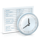 time, table, Clock, Chronological review WhiteSmoke icon