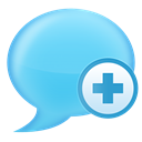 Chat LightSkyBlue icon