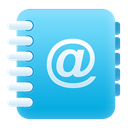 Address, Book LightSkyBlue icon