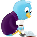 bird, twitter, Book, read Black icon