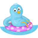 twitter, pool, bird SkyBlue icon
