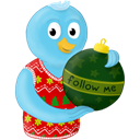 christmas, Me, folow, ornament, winter Black icon