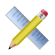 Application, pencil, ruler LightSteelBlue icon