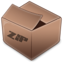 Zip RosyBrown icon