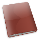 Book, red book Sienna icon