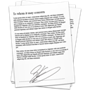 document, references, contract, Signature Snow icon