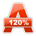 120%, Alcohol OrangeRed icon