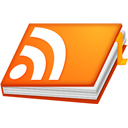 Rss, rss book, feed, Book, Notebook DarkOrange icon
