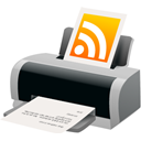 feed, Rss, printer Linen icon
