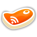 feed, meat, Rss DarkOrange icon