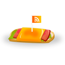 feed, Rss, sandwich WhiteSmoke icon