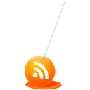 feed, Rss, sucker DarkOrange icon