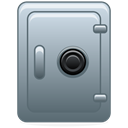 Accounting, safety box DimGray icon