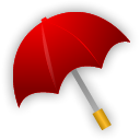 Umbrella, Rain DarkRed icon