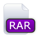 File, Rar DarkViolet icon