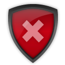 shiekld, decline, Antivirus Firebrick icon