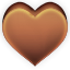 Heart, Favorite, love, Chocolate Sienna icon
