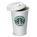 starbucks, Coffee, lid, cup Black icon