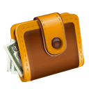 checkout, Money, Dollar, Cash, pay, wallet SaddleBrown icon