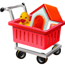webshop, Cart, shopping, ecommerce Red icon