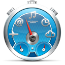 timer, widgets, Dashboard Black icon