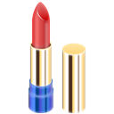 Lipstick, red Black icon