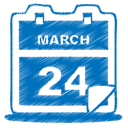 Blue, event, date, Calendar DarkCyan icon