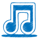 Blue, node, music DarkCyan icon