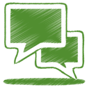Chat, green, 15 OliveDrab icon