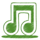 music, green, Note, itunes, tone OliveDrab icon