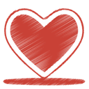 love, Heart, red, 21 Firebrick icon