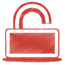 red, Lock Firebrick icon