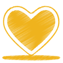 love, Heart, yellow Goldenrod icon