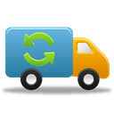 shipment, Autoship, Delivery, truck Black icon