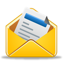 read, envelope, Already, Message, Email, send Gold icon