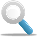 search, zoom Black icon