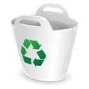 recycle bin Black icon